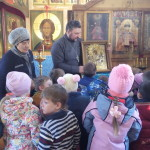 Воспитанники детского сада «Березка» в храме в честь иконы Божией Матери «Нечаянная Радость» поселка Радовицкий