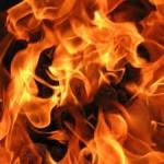 Если горит человек